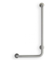 """Angle Stainless Steel """"Code Approved"""" Grab Bar – 1.5″ dia., Peened Grip"""