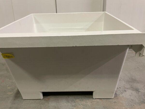 Durastone laundry tub with scrub board back view.