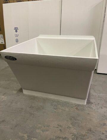 Mustee 23.5″x 23″ DURASTONE Laundry Tub w/ Scrub-Board – OPEN BOX