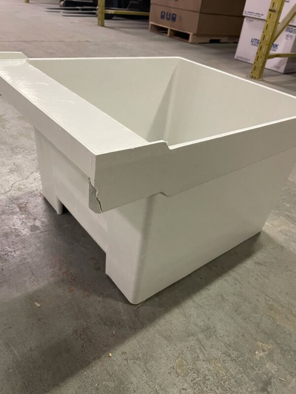 Floor mount Laundry tub back view.