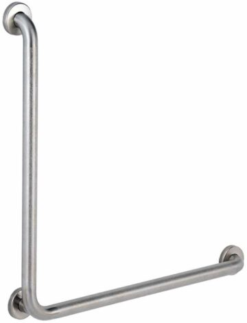 """90 Degree Stainless Steel """"Code Approved"""" Grab Bar – 1.5″ dia., 30″ x 30″"""