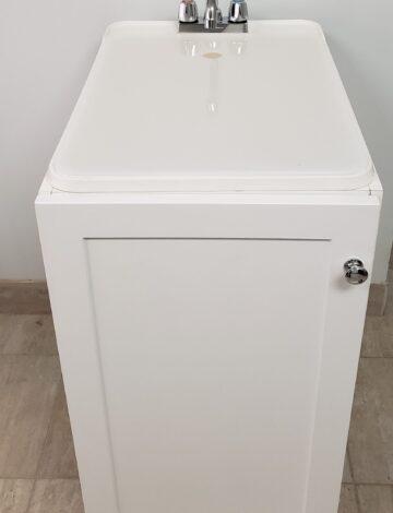 Laundry Sink w/ White Cabinet 18″x 24″x 37″
