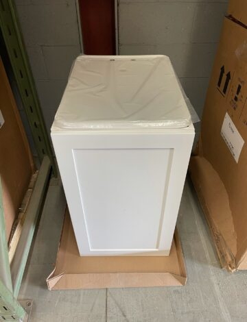 Dura-Tub (24″x 18″) + White Wood Cabinet (18″x 24″ x 37″) – OPEN BOX
