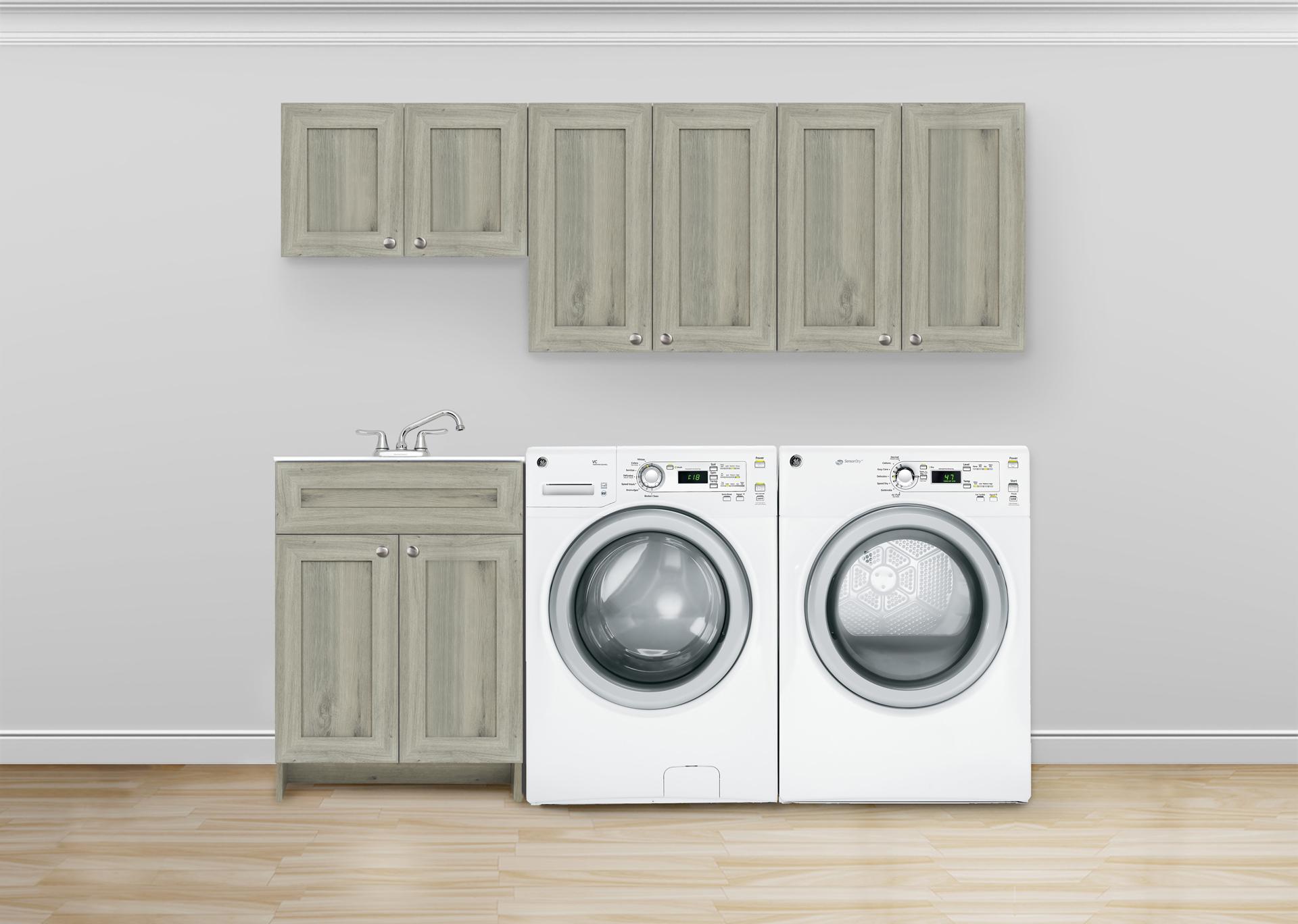 Jasper Laundry Combo Closet In Light Grey