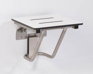 Folding wall mounted seat.