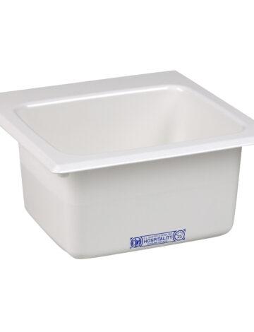 15″ x 15″  White Bar Sink