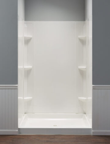 Square/Rectangular Shower Wall System –  Fits up to 48″W & 42″D alcove