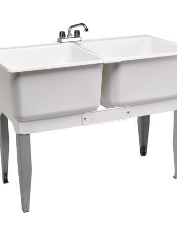 46″ Double Laundry Tub Combo Kit