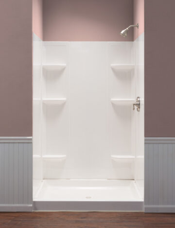 Square/Rectangular Shower Wall System –  Fits up to 60″W & 40″D alcove