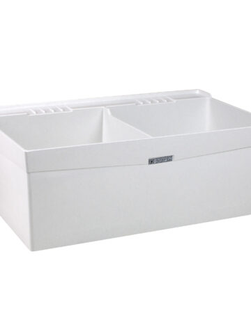 40″ Durastone Double Laudry Tub – Wall Mount