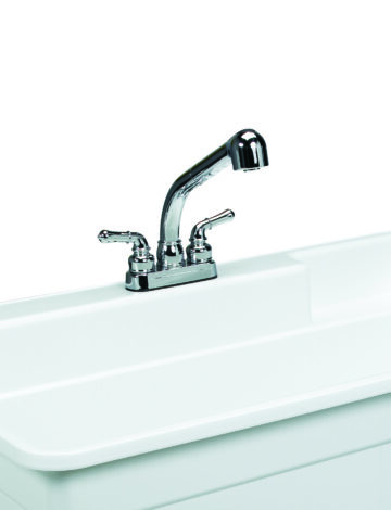 Plastic 4″ Pull Out Faucet, Supply Lines & P-Trap