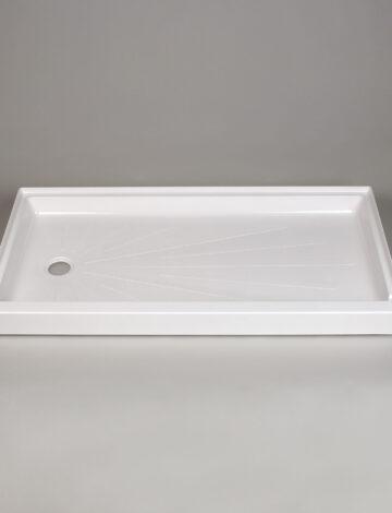 30″x 60″ Shower Base, Left-Hand Drain – White