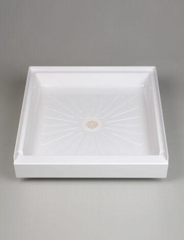 32″x 32″  Square Shower Base – White