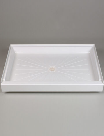 32″x 48″ Rectangular Shower Base – White