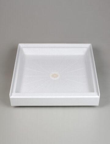 34″x 34″  Square Shower Base – White