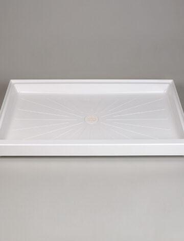 34″x 60″ Rectangular Shower Base – White