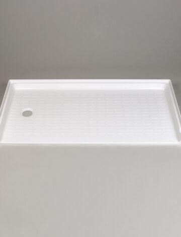 30″x 60″ Barrier-Free Shower Base, LH Drain – White