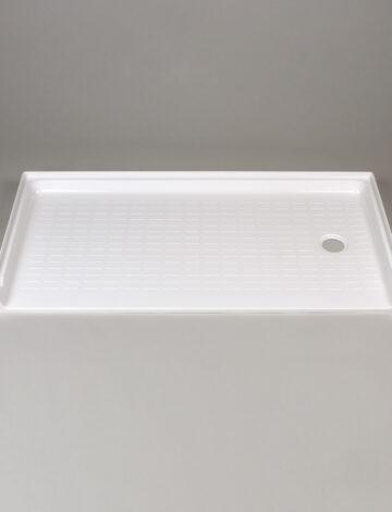 30″x 60″ Barrier-Free Shower Base, RH Drain – White