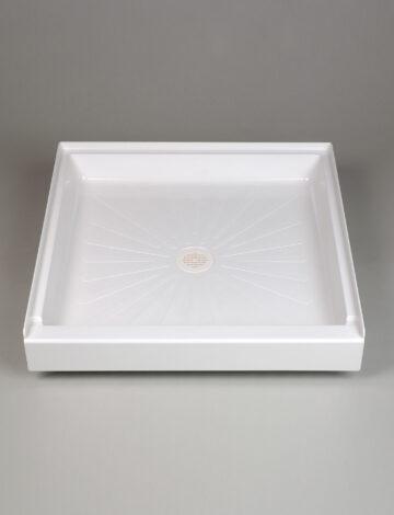 36″x 36″  Square Shower Base – White