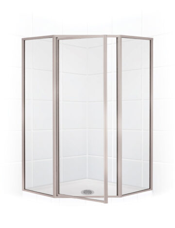 38″ Neo-Angle Shower Enclosure – Clear Glass w/ Brushed Nickel