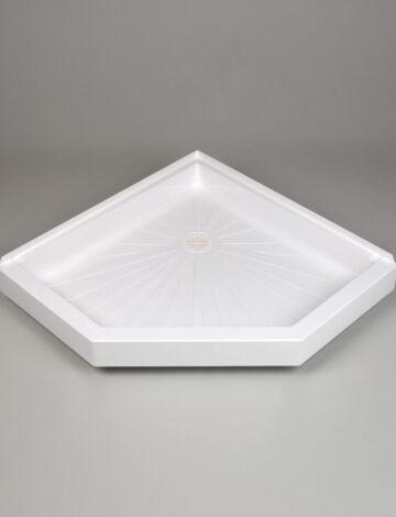 38″x 38″ Neo-Angle Shower Base –  White