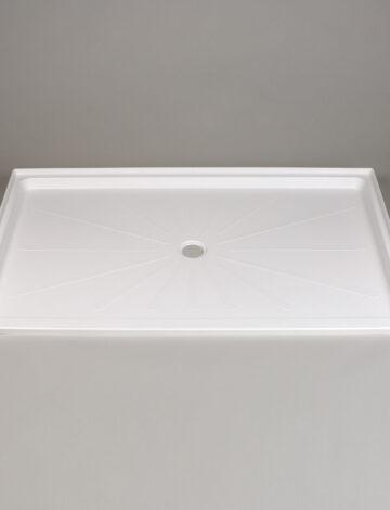 38″x 65″ Barrier-Free Shower Base, Center Drain – White