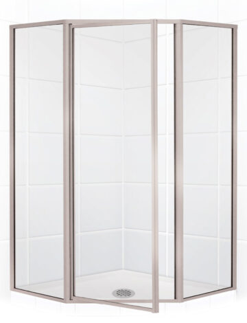 42″ Neo-Angle Shower Enclosurew/Clear Glass Brushed Nickel
