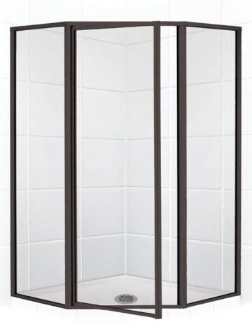 42″ Neo-Angle Shower Enclosurew/Clear Glass Oil Rub Bronze
