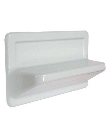 Varistone Shelf for Shower or Bathtub – White