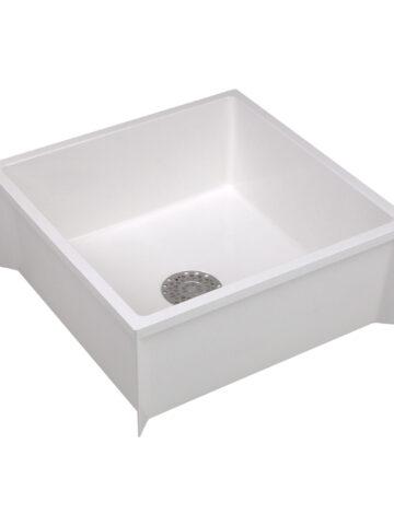 Mop Basin 24″x 24″x 10″  – White Durastone