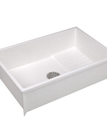 Mop Basin 24″x 36″x 10″  – White Durastone