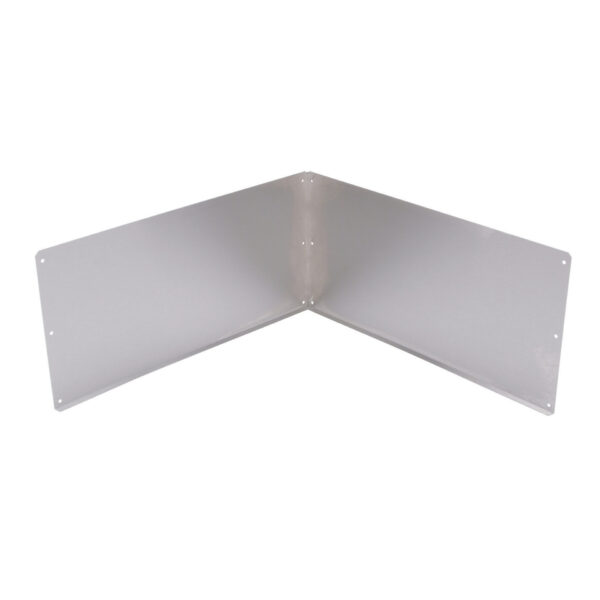 Right angle metal plate.