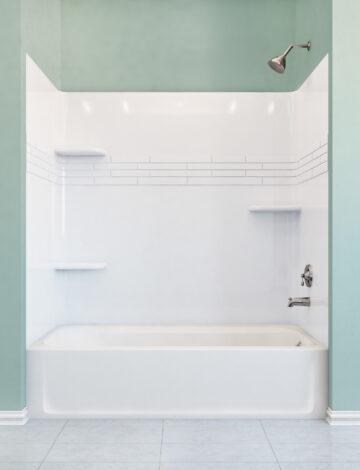 Premium Bathtub Walls – White Fibreglass, 32″x 60″