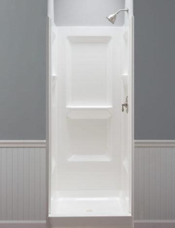 32″ Square Shower Wall – White Fibreglass