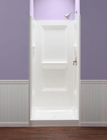 36″ Square Shower Wall – White Fibreglass