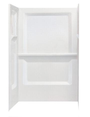 32″ x 48″ Rectangular Shower Wall – White Fibreglass