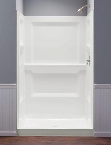34″ x 48″ Rectangular Shower Wall – White Fibreglass