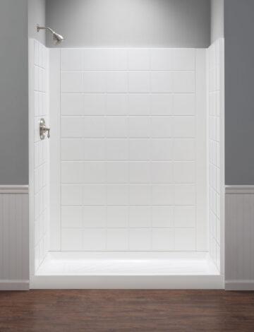 30″ x 60″ Rectangular Shower Wall – White Fibreglass
