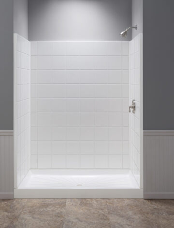 34″ x 60″ Rectangular Shower Wall – White Fibreglass