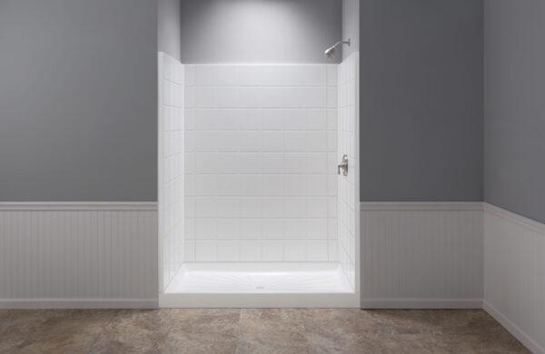 Mustee shower walls.
