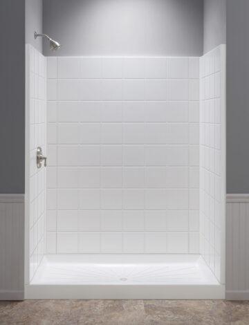 36″ x 60″ Rectangular Shower Wall – White Fibreglass
