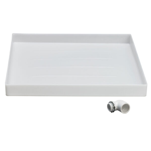 Polypropylene washer pan with connector pipe.