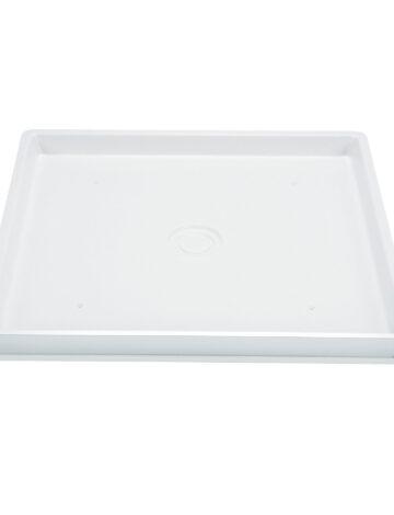 Washer Pan – 30″x 32″, Fibreglass (side-drain)
