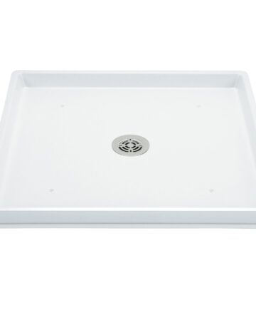 Washer Pan – 30″x 32″, Fibreglass (centre-drain)