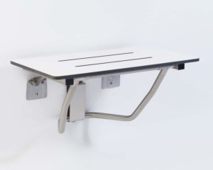 Rectangular Flip-up Seats – Padded and Phenolic, White & Woodgrain