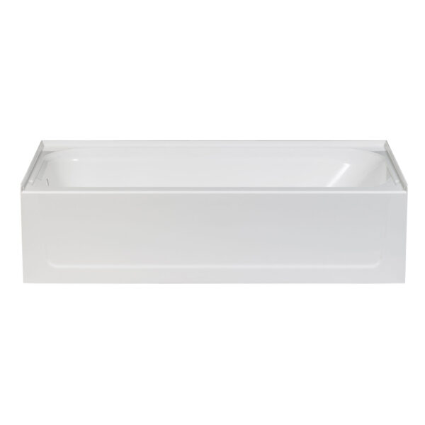 White fibreglass bathtub with LH drain.