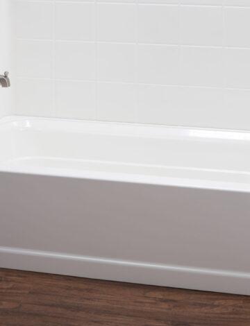 30″ x 60″ Bathtub – LH Drain, White Fibreglass