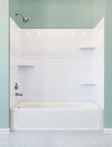 32″ x 60″ Bathtub – RH Drain, White Fibreglass