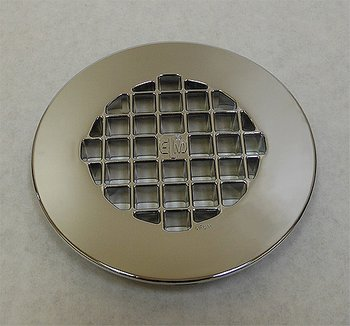 """Chrome Plated Plastic Strainer for Mustee """"M"""" bases"""